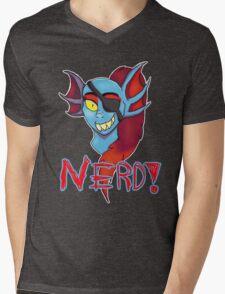 Undyne NERD! Mens V-Neck T-Shirt