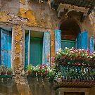 Blue Windows, Italy by Maria Draper