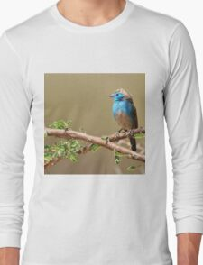 Blue Waxbill - Colorful Wild Birds from Africa - Beautiful Bliss Long Sleeve T-Shirt