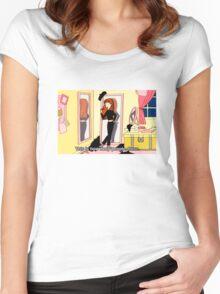 """""""Deep"""" Quinn  Women's Fitted Scoop T-Shirt"""