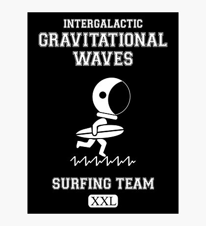 Gravitational Waves Surfing Team Photographic Print