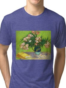Books and Oleander Tri-blend T-Shirt