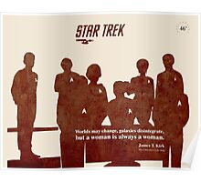 Red Star Trek Crew Poster
