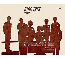 Red Star Trek Crew Photographic Print