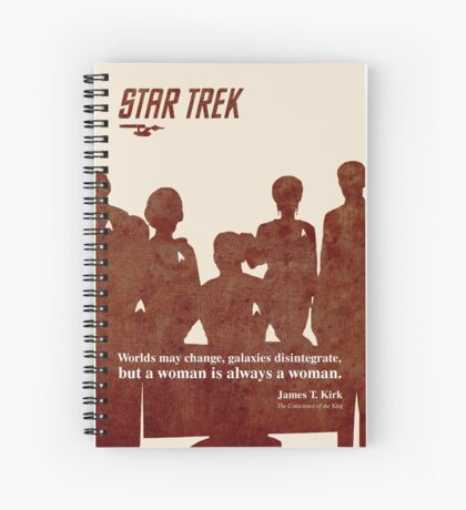 Red Star Trek Crew Spiral Notebook