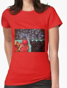 Farmers Market Berries 1 Womens Fitted T-Shirt