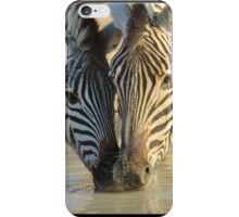 Zebra - African Wildlife Background - With Mother by my side iPhone Case/Skin