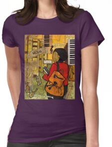 Urban Music Student Womens Fitted T-Shirt