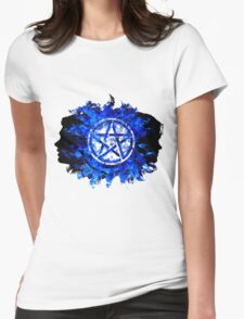 Sam and Dean with Pentagram ~ Supernatural Womens Fitted T-Shirt
