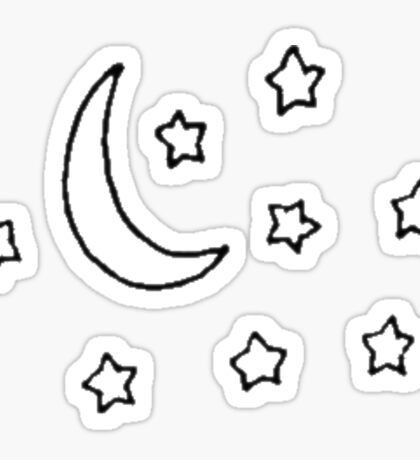 Stars and Moon  Sticker