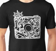 White Doodle Camera Graphic Unisex T-Shirt