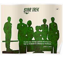 Crew, Star Trek Silhouette Poster