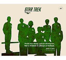 Crew, Star Trek Silhouette Photographic Print