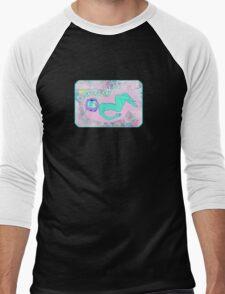 Space Girl Print Men's Baseball ¾ T-Shirt