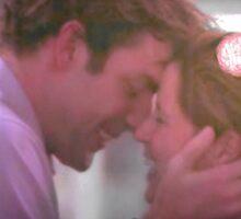 Jim and Pam kiss Sticker