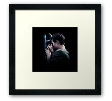 Fifty Shades - Elevator Kiss (Color) Framed Print