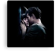 Fifty Shades - Elevator Kiss (Color) Canvas Print