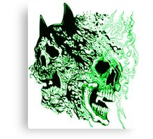 batman vs superman  kryptonite skulls Canvas Print