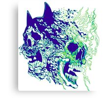 batman vs superman skulls  green purple Canvas Print