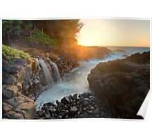 Queens Bath Falls - Kauai Poster