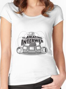 The Amazing Interweb Women's Fitted Scoop T-Shirt