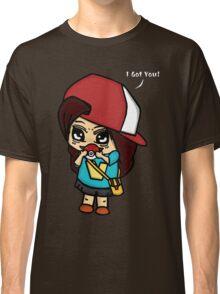 I Got You! Pokemon Trainer Girl (In Black Background) Classic T-Shirt