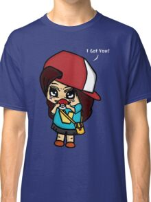 I Got You! Pokemon Trainer Girl (In Black Background) Classic T-Shirt
