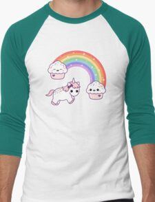 Cute Cupcake Unicorn Men's Baseball ¾ T-Shirt