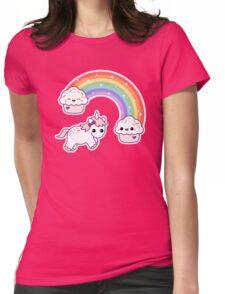 Cute Cupcake Unicorn Womens Fitted T-Shirt