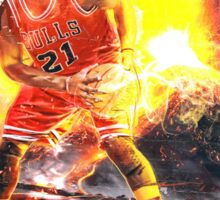 Jimmy Butler On Fire Sticker