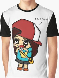 I Got You! Pokemon Trainer Girl (In White Background) Graphic T-Shirt
