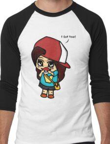 I Got You! Pokemon Trainer Girl (In White Background) Men's Baseball ¾ T-Shirt