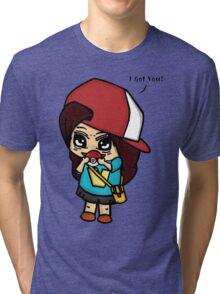 I Got You! Pokemon Trainer Girl (In White Background) Tri-blend T-Shirt