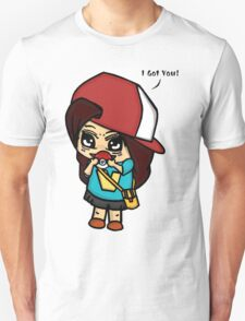 I Got You! Pokemon Trainer Girl (In White Background) T-Shirt