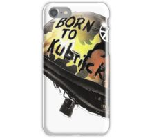 FULL METAL JACKET BORN TO KUBRICK iPhone Case/Skin