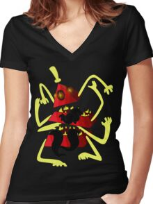 Nightmare Bill Cipher Women's Fitted V-Neck T-Shirt