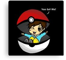 You Got You! Pokemon Trainer Boy (In Black Background) Canvas Print