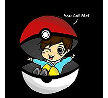 You Got You! Pokemon Trainer Boy (In Black Background) Photographic Print