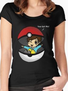 You Got You! Pokemon Trainer Boy (In Black Background) Women's Fitted Scoop T-Shirt