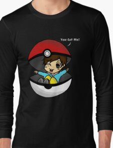 You Got You! Pokemon Trainer Boy (In Black Background) Long Sleeve T-Shirt
