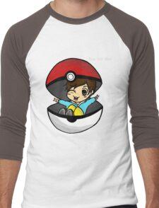 You Got You! Pokemon Trainer Boy (In Black Background) Men's Baseball ¾ T-Shirt