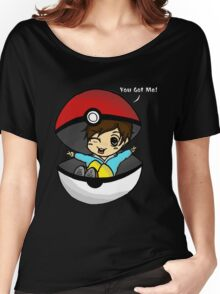 You Got You! Pokemon Trainer Boy (In Black Background) Women's Relaxed Fit T-Shirt
