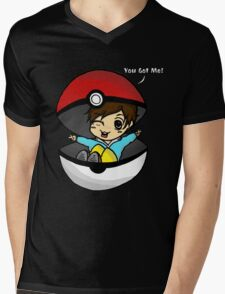 You Got You! Pokemon Trainer Boy (In Black Background) Mens V-Neck T-Shirt