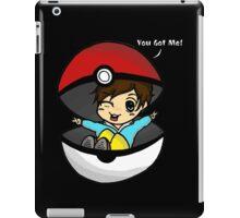 You Got You! Pokemon Trainer Boy (In Black Background) iPad Case/Skin