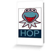 KERMIT MUPPETS MUTANT  HOP POSTER  Greeting Card