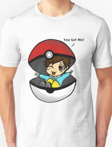 You Got Me! Pokemon Trainer Boy (In White Background) T-Shirt