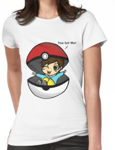 You Got Me! Pokemon Trainer Boy (In White Background) Womens Fitted T-Shirt