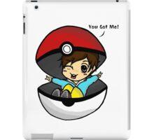 You Got Me! Pokemon Trainer Boy (In White Background) iPad Case/Skin