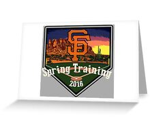 San Francisco Giants Spring Training 2016 Greeting Card
