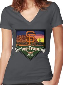 San Francisco Giants Spring Training 2016 Women's Fitted V-Neck T-Shirt